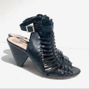 Vince Camuto Black Block Heel Sandals